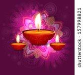 beautiful vector diwali... | Shutterstock .eps vector #157998821