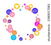 social media marketing ... | Shutterstock .eps vector #1580017081