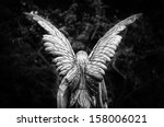 Winged Angel Gravestone Back...