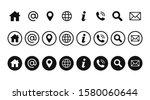 contact icon set vector... | Shutterstock .eps vector #1580060644
