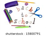 stapler  brush  pencils  pen ... | Shutterstock . vector #15800791