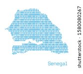 map of senegal from binary code ... | Shutterstock .eps vector #1580080267