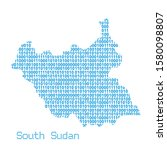 map of south sudan from binary... | Shutterstock .eps vector #1580098807
