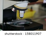 objective lens and the stage of ...   Shutterstock . vector #158011907