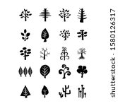 tree icon set. plants with...   Shutterstock .eps vector #1580126317