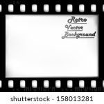 empty film frame  old fashioned | Shutterstock .eps vector #158013281