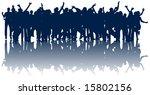illustration of people jumping | Shutterstock .eps vector #15802156