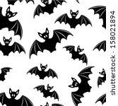 bat   seamless background | Shutterstock . vector #158021894