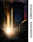 uncommon darkness has settled... | Shutterstock . vector #158023415