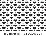 black hearts vector shapes on a ... | Shutterstock .eps vector #1580243824