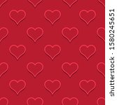 hearts color vector shapes.... | Shutterstock .eps vector #1580245651