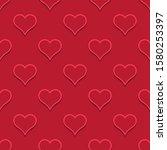 hearts color illustration.... | Shutterstock . vector #1580253397