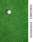 White Golf Ball On Green Grass...