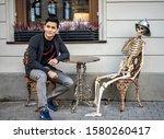 Riga  Latvia   2019 Skeleton...