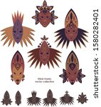 Ethnic Tribal Masks Vector Set
