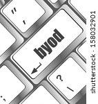 byod keyboard key of a notebook ...   Shutterstock . vector #158032901