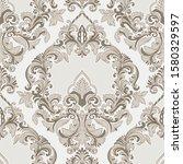 vector damask seamless pattern... | Shutterstock .eps vector #1580329597