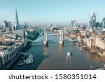 Aerial View Of The Tower Bridge ...