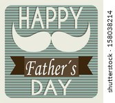 abstract father's symbol on... | Shutterstock .eps vector #158038214