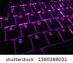 purple backlit low profile... | Shutterstock . vector #1580388031