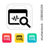 pulse monitoring icon. vector... | Shutterstock .eps vector #158040104