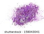 crushed eyeshadows on white... | Shutterstock . vector #158043041