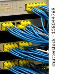 network switch and utp ethernet ... | Shutterstock . vector #158044769