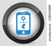 phone navigation system | Shutterstock .eps vector #158044889