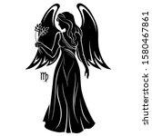 virgo zodiac sign. horoscope.... | Shutterstock .eps vector #1580467861