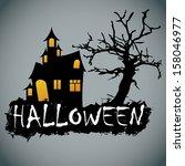 abstract halloween background... | Shutterstock .eps vector #158046977