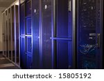 a server room with racks and... | Shutterstock . vector #15805192