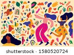 colorful trendy pattern with...   Shutterstock .eps vector #1580520724