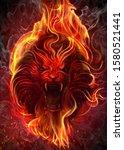 The Lion Of Fire Art. Digital...