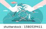 dna sequencing vector...   Shutterstock .eps vector #1580539411