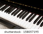 Close Up Of Piano Keyboard.
