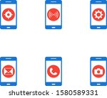 6 mobile apps icons sheet...