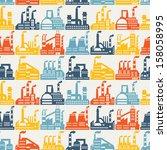 industrial factory buildings... | Shutterstock .eps vector #158058995