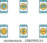 6 set of mobile apps icons... | Shutterstock .eps vector #1580590114