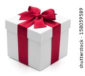 Gift Box With Red Ribbon ...