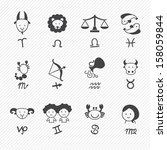 zodiacal icons   Shutterstock .eps vector #158059844