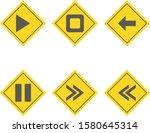 6 basic elements icons sheet... | Shutterstock .eps vector #1580645314