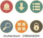 6 set of basic elements icons...