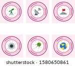 6 astronomy icons for personal... | Shutterstock .eps vector #1580650861