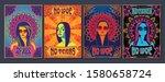 psychedelic art women portraits ... | Shutterstock .eps vector #1580658724
