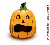 pumpkin by a holiday halloween... | Shutterstock .eps vector #158069855