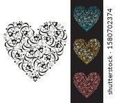 vintage heart of the vignettes. ... | Shutterstock .eps vector #1580702374