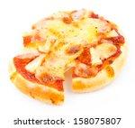 Mini Pizza On White Background