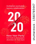 invitation for new year eve... | Shutterstock .eps vector #1580785447