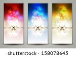 three multicolor christmas... | Shutterstock .eps vector #158078645