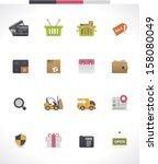 vector e commerce and shopping... | Shutterstock .eps vector #158080049